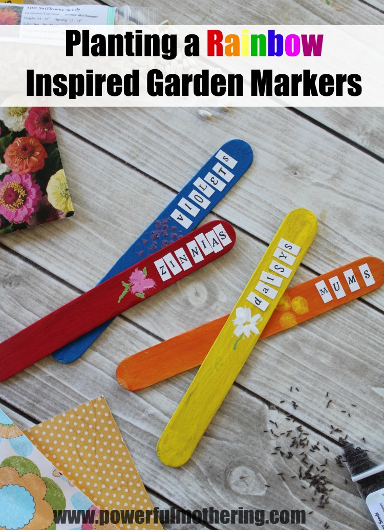 planting a rainbow garden inspired markers craft