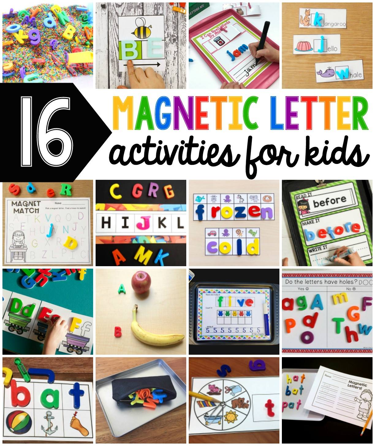 16 Magnetic Letter Activities For Preschool Kindergarten