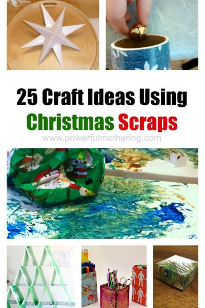 25 Ideas For Crafts and Activites Made From Christmas Scraps