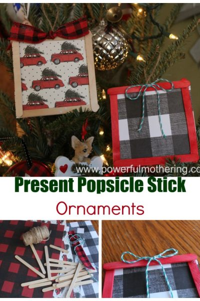 Popsicle Stick Ornament Presents
