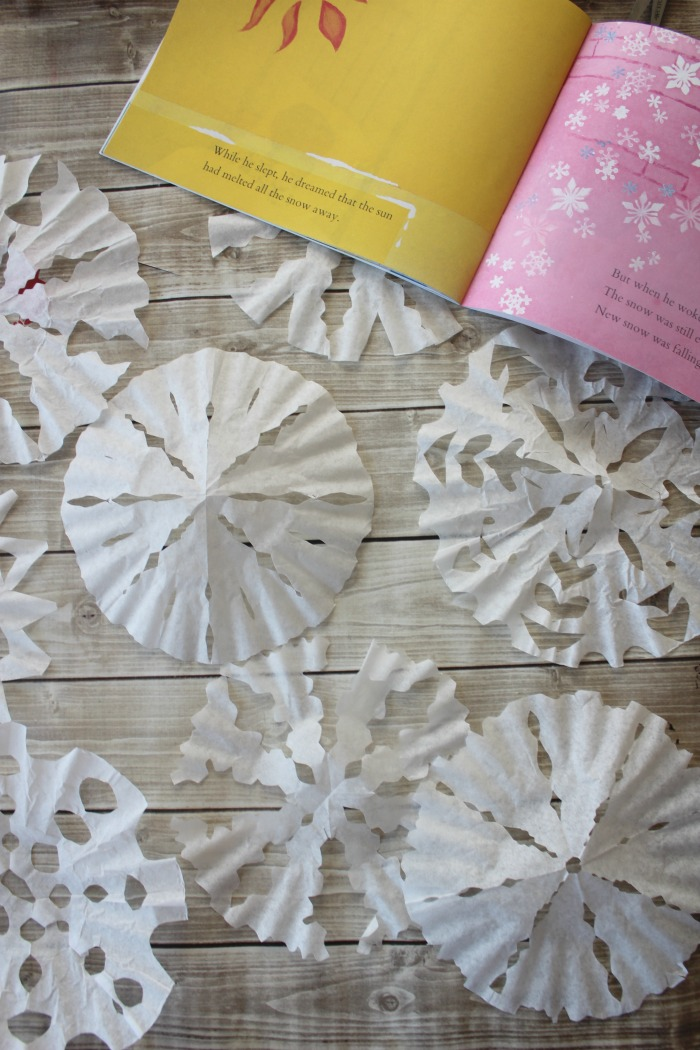 snowflake art project for preschoolers