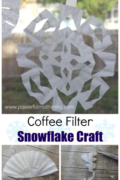 Coffee Filter Snowflake Craft