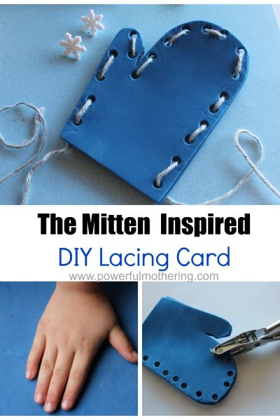 The Mitten Inspired DIY Lacing Card