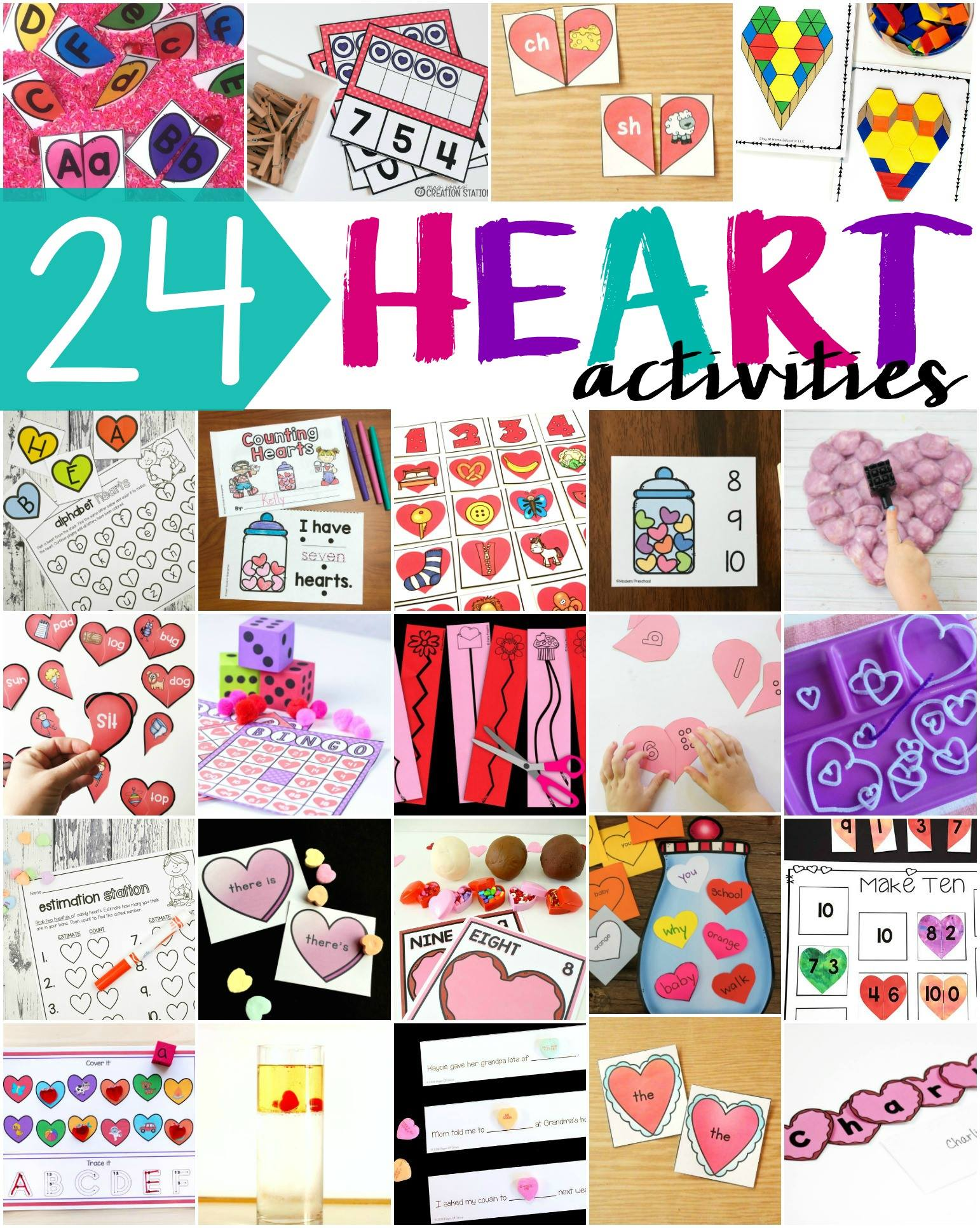 24 Heart Activities For Preschool