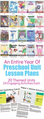 Preschool Lesson Plans and Preschool Themes for a Year