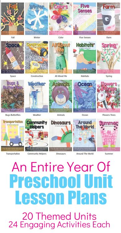 Download an entire year worth of Preschool Lesson Plans and Preschool Themes for your classroom, homeschool or extra activities for your kids. Each theme includes hands on, engaging activities that are fun for kids and low prep for you.