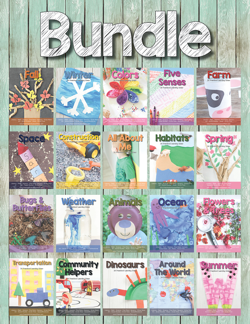 Preschool Unit Lesson Plan Bundle. 20 Themed Units, Each With 24 Preschool Learning Activities