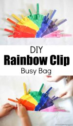 DIY Rainbow Clip Busy Bag