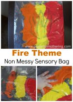 Fire (No Mess) Sensory Bag