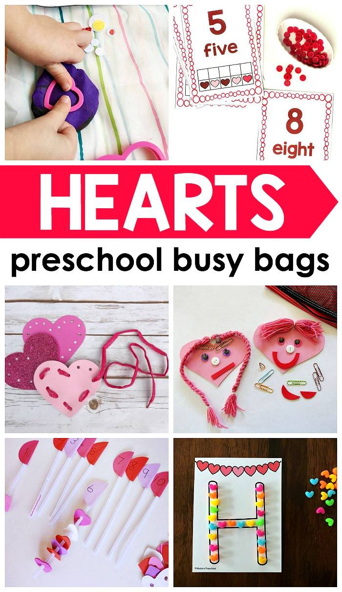 Heart Busy Bags For Preschool