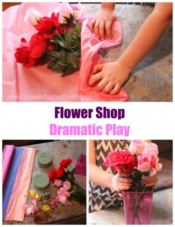 Spring flower dramatic play shop