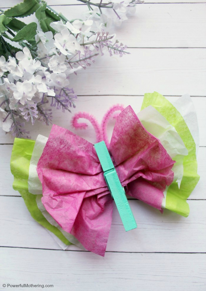 Colorful Tissue Paper Butterfly