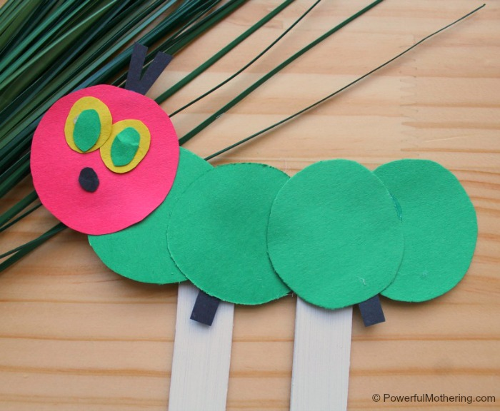Hungry Caterpillar Craft Puppet