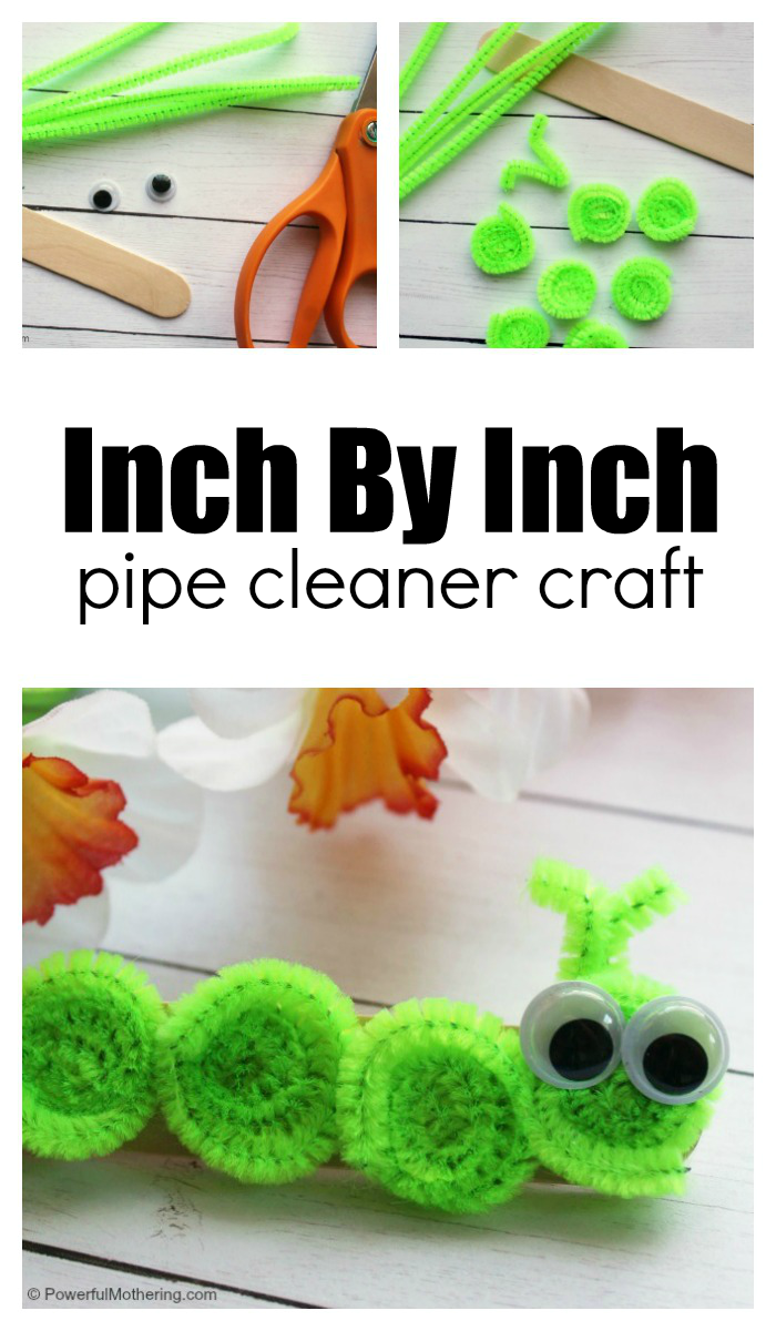 How To Make A Book Inspirared Inchworm Craft With Kids