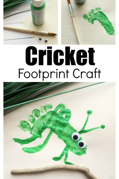 Preschool Cricket Craft Kids Can Make With Their Footprints
