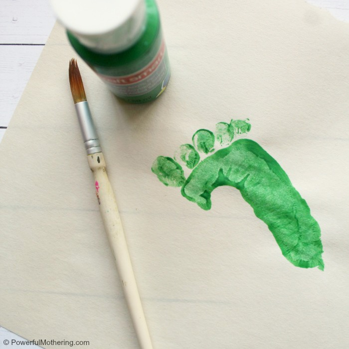 Start The Preschool Cricket Craft With A Footprint
