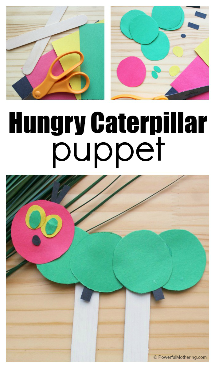 This Puppet Is An Easy And Fun Very Hungry Caterpillar Craft For Kids