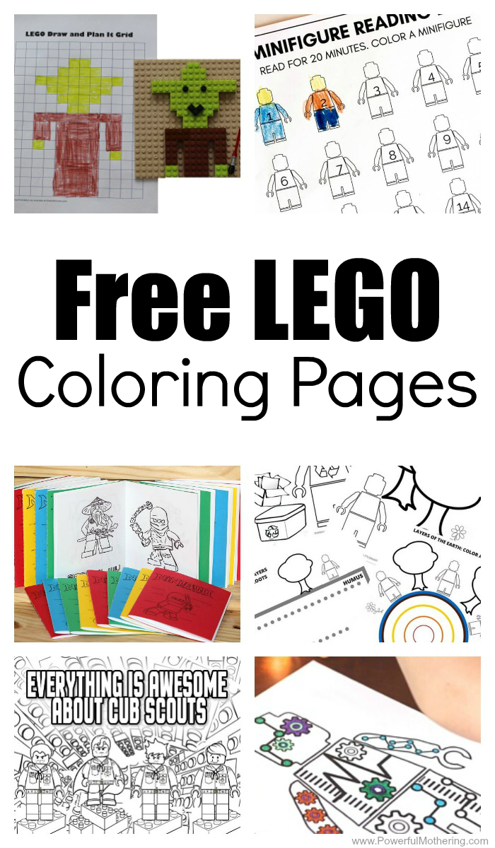 15+ Free LEGO Coloring Pages For Kids