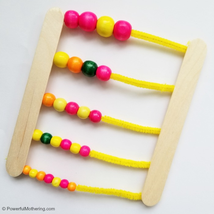 Completed Homemade Abacus Number Counter