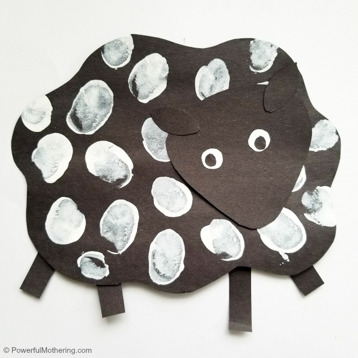 Easy Thumbprint Sheep Craft