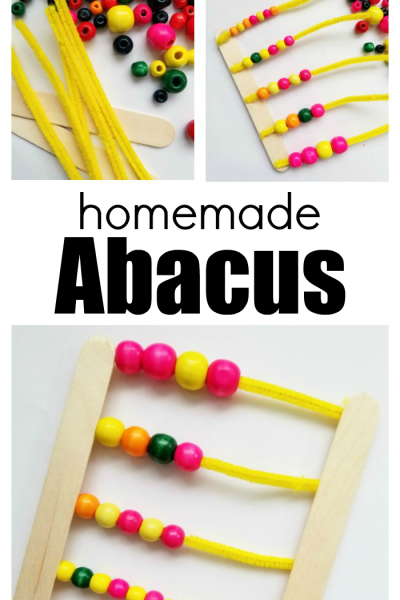 How To Make A Homemade Abacus Number Counter With Kids