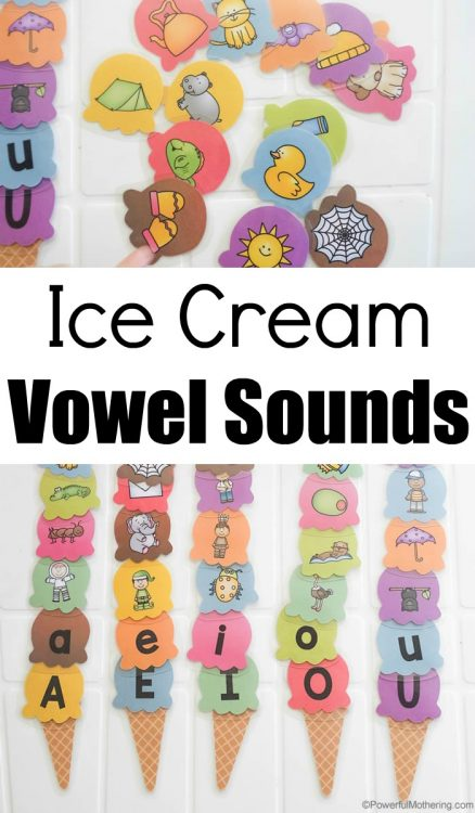 Ice Cream Vowel Sounds Busy Bag
