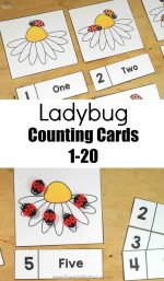Ladybug Counting Cards 1-20
