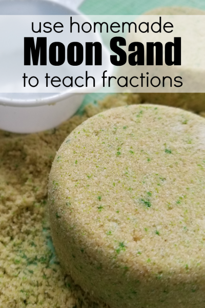 How to Use Homemade Moon Sand to Teach Fractions
