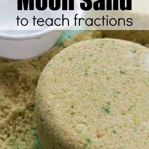 Make Homemade Moon Sand And Use It To Teach Fractions