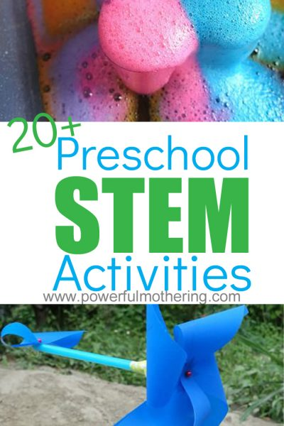 20+ Preschool STEM Activities: Science, Technology, Engineering & Math. All activities are engaging, exciting and motivate learning for Preschoolers.