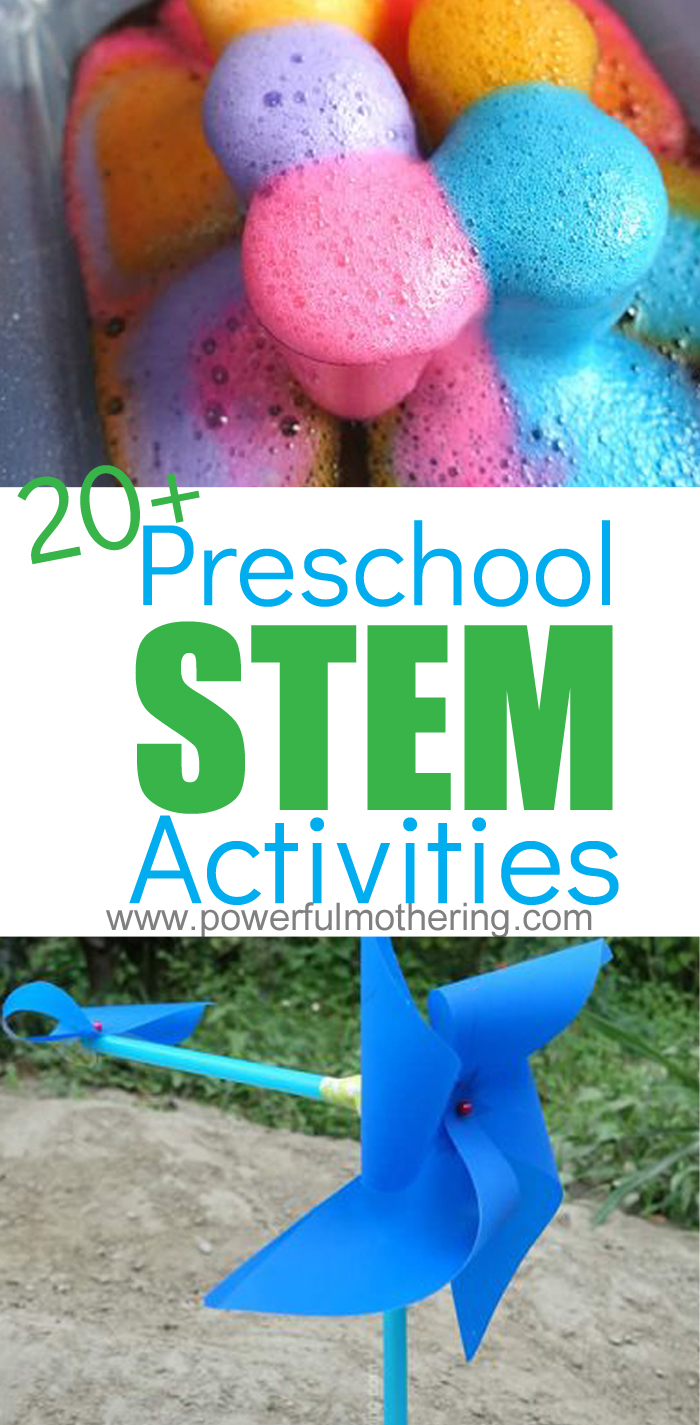 20+ Preschool STEM Activities for engaging and encouraging kids.