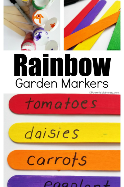 How to Make a Rainbow Garden Markers Craft with Kids