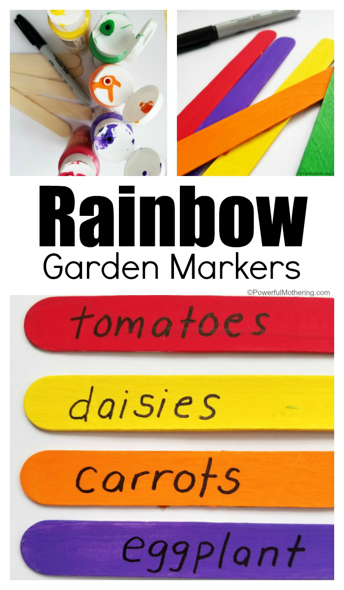 Rainbow Garden Markers Craft To Make With Kids