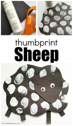 Thumbprints Sheep Craft for Kids