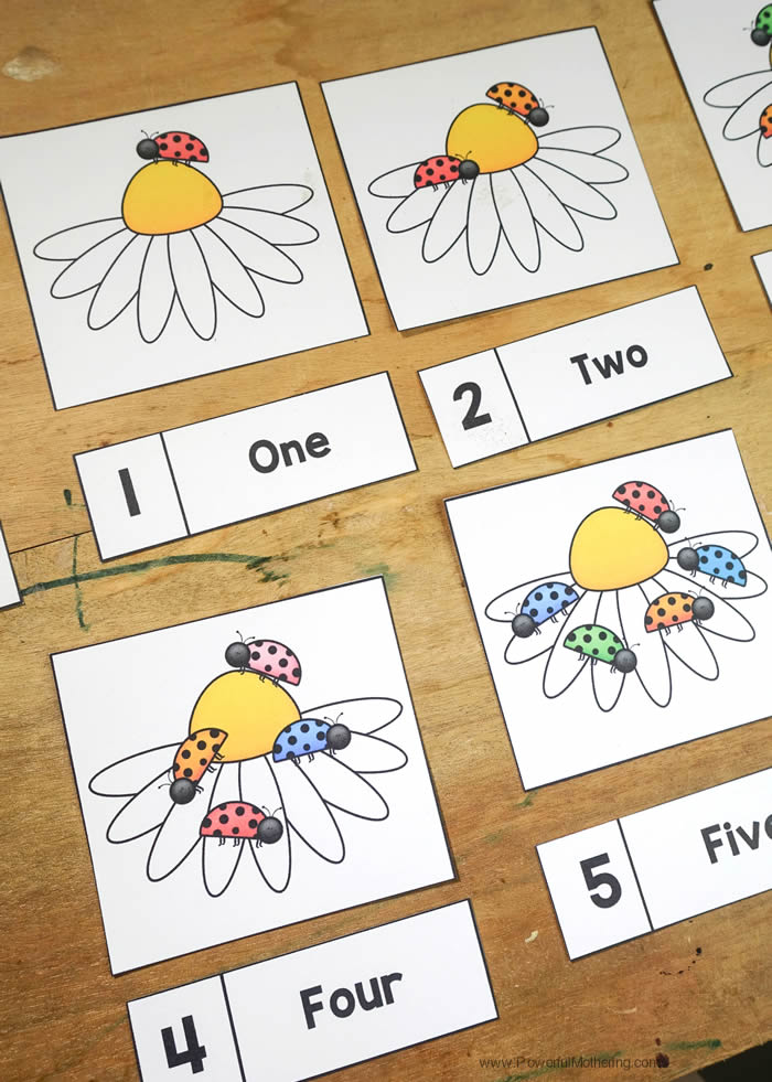 Easy Printable Counting Cards