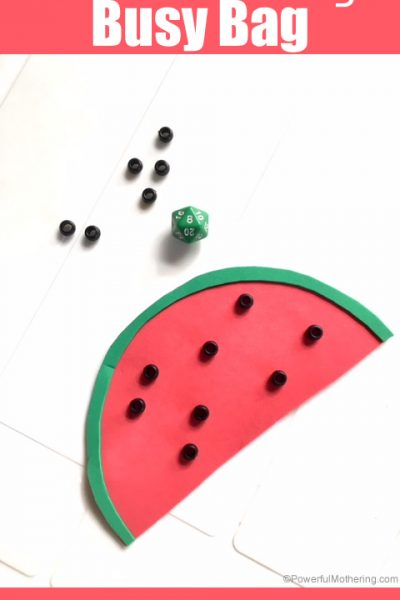 Watermelon 1-20 Counting Busy Bag