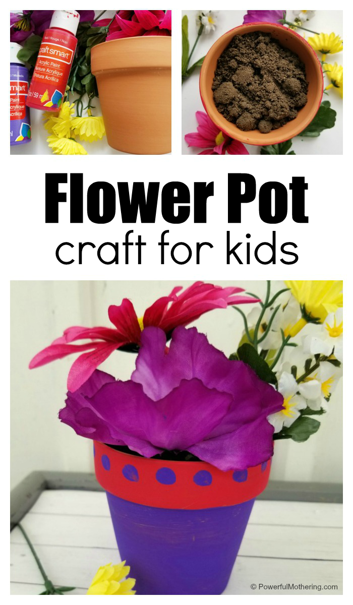 Colorful Flower Pot Craft For Kids To Make As A Gift