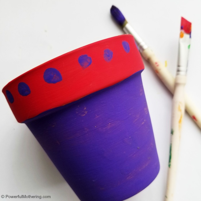 Colorful Flower Pot Craft To Make With Kids