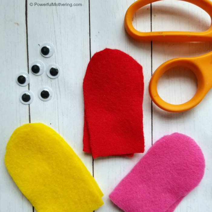 Cutting Shapes For Finger Puppets For Kids