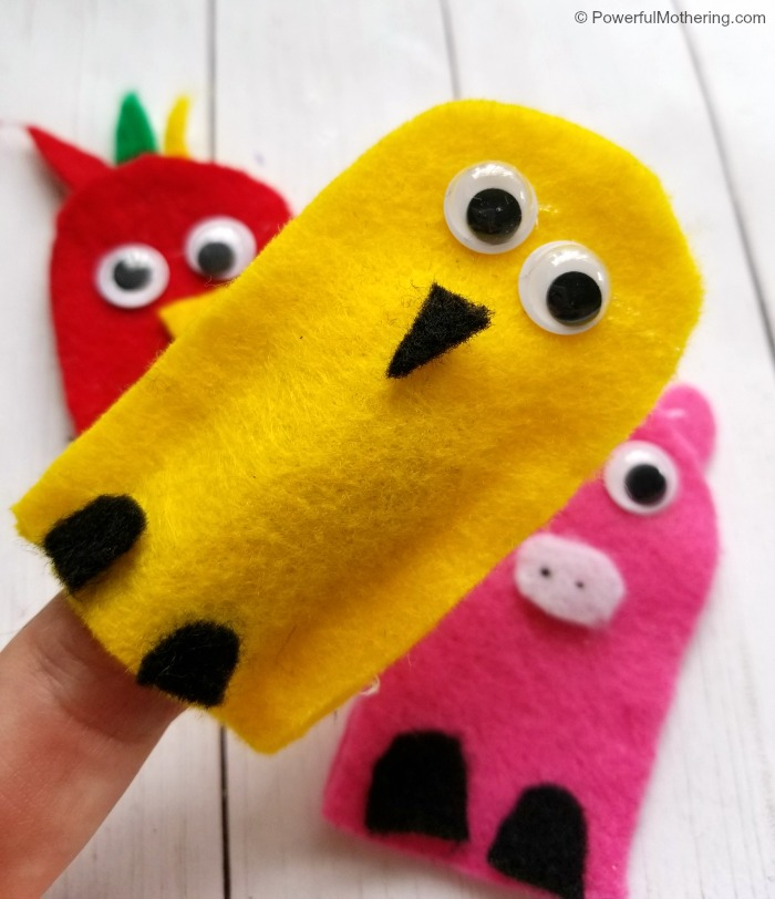 Farm Animal Finger Puppets For Kids To Make
