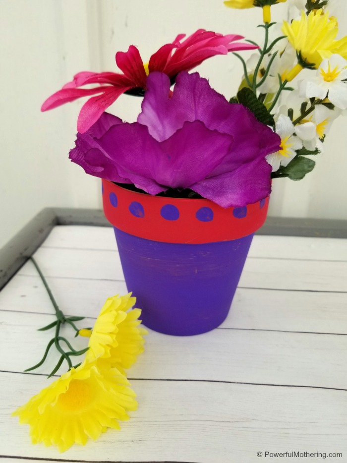 Finished Flower Pot Craft Kids Can Make As A Gift