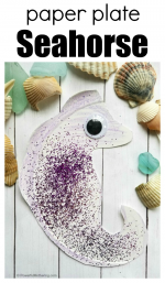 Paper Plate Seahorse Craft for Kids