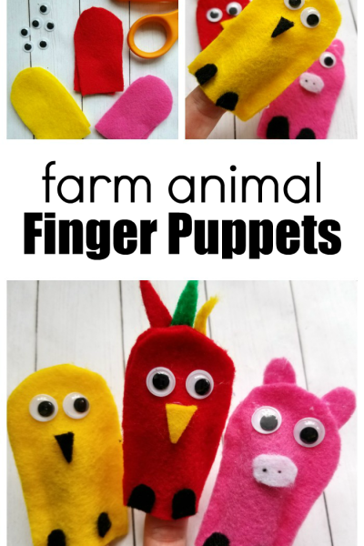 How to Make Farm Animal Finger Puppets for Kids