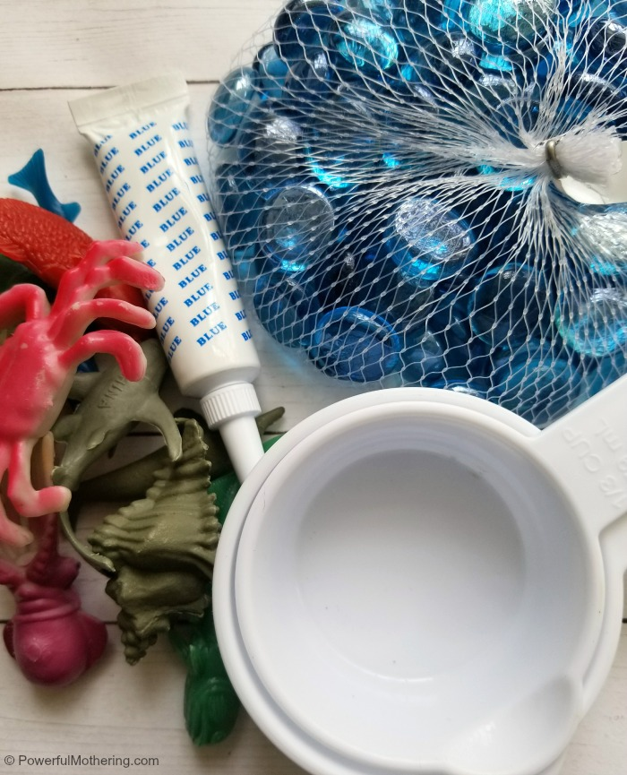 materials for a water sensory bin