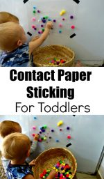 Contact Paper Sticking For Toddlers
