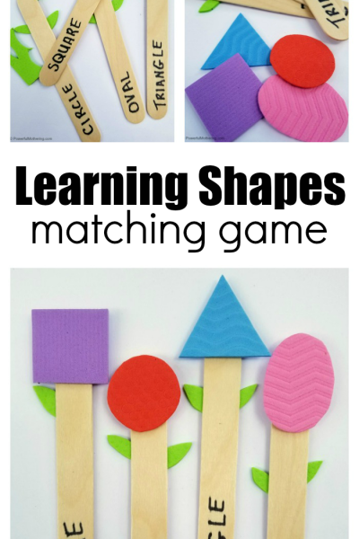 Make a Matching Game for Kids Learning Shapes