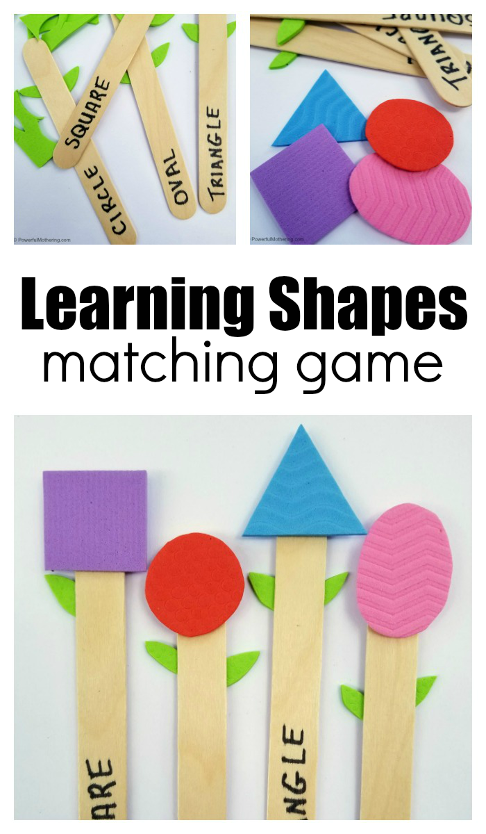 Learning Shapes With Homemade Flower Matching Game