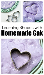 Exploring Shapes with Homemade Gak and Cookie Cutters