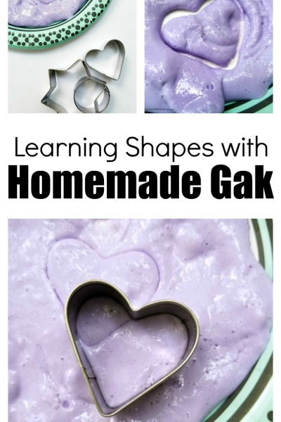 Learning Shapes With Homemade Gak