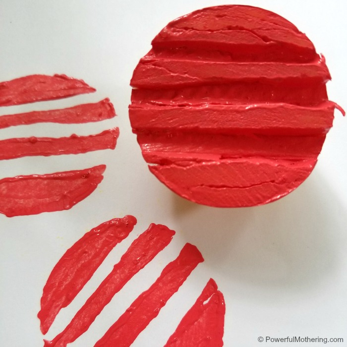 Make Your Own Stamp Design With Potatoes